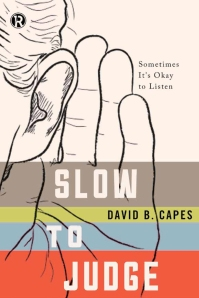 An early version of the cover art for SLOW  TO JUDGE